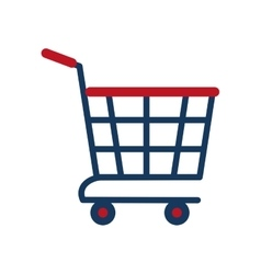 shopping cart online delivery market vector image vector image