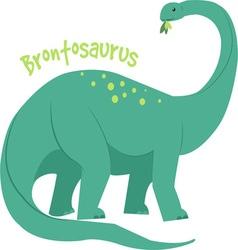 Brontosaurus vector image