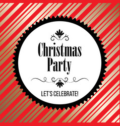 christmas party invitation with ornaments vector image
