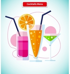 Cocktails Menu Icon Variety of Beverages vector image