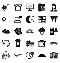 director icons set simple style vector image vector image