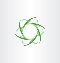green quantum atom biology icon vector image vector image