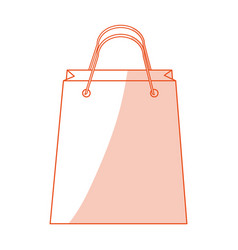 red silhouette shading image cartoon bag for vector image vector image