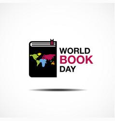 world book and copyright day logo icon design vector image
