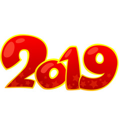 2019 happy new year design element vector image