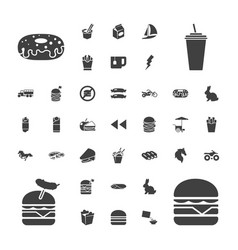 37 fast icons vector