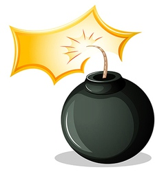 A round explosive bomb vector image