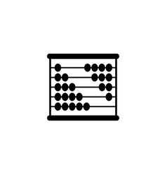 abacus of accounts of icon calculate black vector image