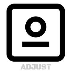 Adjust conceptual graphic icon vector