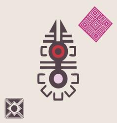 African ornamental symbol vector image