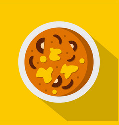 Asian hot dish icon flat style vector