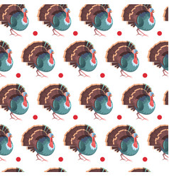Autumn seamless pattern happy thanksgiving day vector