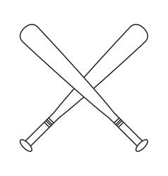 Bat of baseball sport design vector
