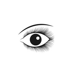 beautiful eye symbol template vector image