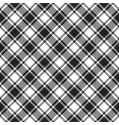 Black white diagonal check texture seamless vector image