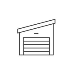 car garage line outline icon vector image