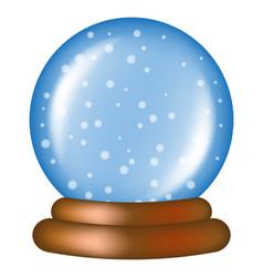 christmas snowglobe cartoon design icon symbol vector image