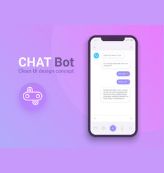 clean mobile ui design concept trendy chatbot vector image