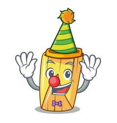 Clown tamale with corn leaf in cartoon vector