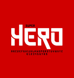 comics super hero style font alphabet letters and vector image