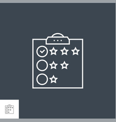 customer reviews related thin line icon vector image