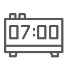 digital clock line icon electronic and digital vector image