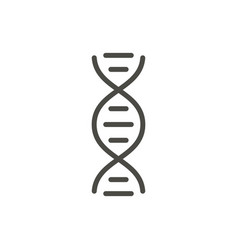 dna icon line genetic symbol vector image
