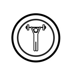 figure symbol person lifting weights gym vector image
