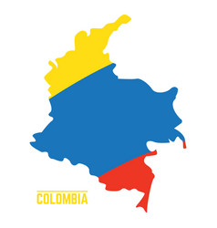 Flag and map of colombia vector