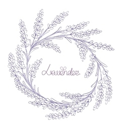 Floral hand-drawn garland vector