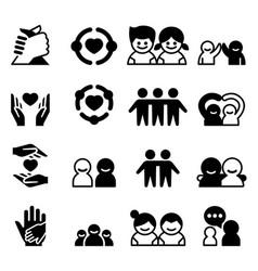 Friendship friend icons vector