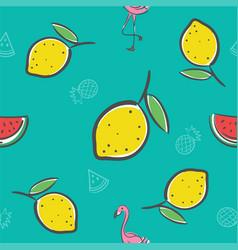 Fruits seamless pattern background format vector