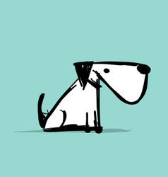 funny dog pet shop logo for your design vector image