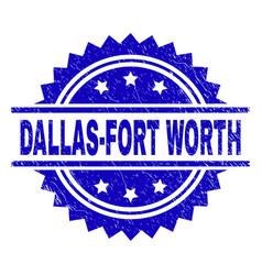 Grunge textured dallas-fort worth stamp seal vector