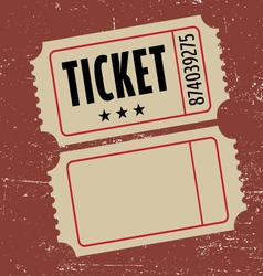 grunge ticket vector image