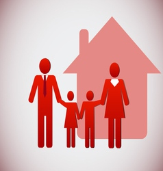 Happy family and a house vector image