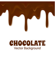 horizontal seamless chocolate trickles vector image