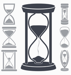 Hourglass icon symbol of time vector