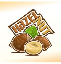 Logo for hazelnut nuts vector