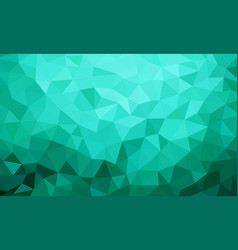 Low poly background teal color vector