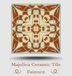 Majolica ceramic tile vintage ceramic majolica vector