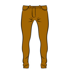 Mens trousers icon cartoon vector
