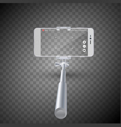 monopod selfie stick with vector image