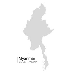 Myanmar map burma icon country silhouette vector