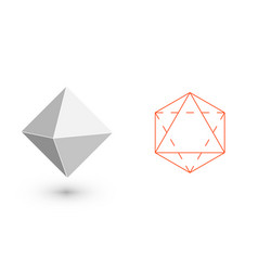 Octahedron - geometric figure hipster fashion vector