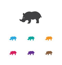 of animal symbol on rhinoceros vector image