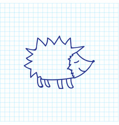 of zoology symbol on hedgehog vector image
