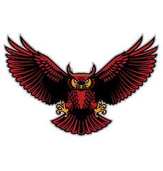 Owl spread wings vector