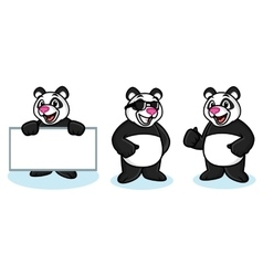 Panda Mascot happy vector image