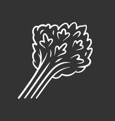 parsley chalk icon vector image
